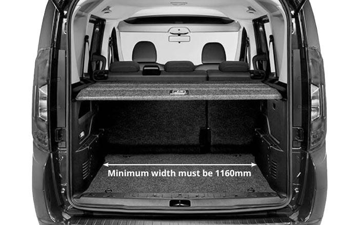Fiat Doblo MK2 wide boot version width